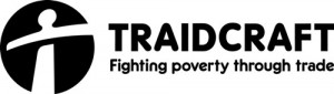 Black and White Traidcraft Logo 500x141