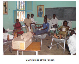 Giving Blood at the Pelican